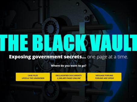 Odpiramo vrata največjega trezora tajnih podatkov - THE BLACK VAULT ! Uživajte v preiskovanju !!!