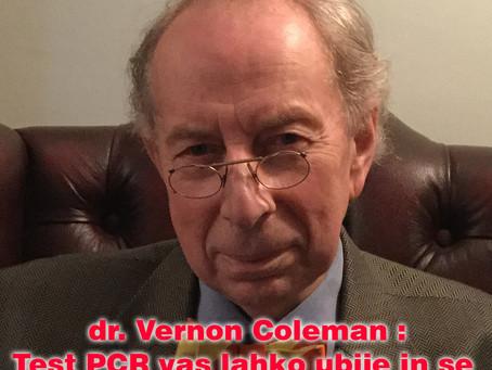 dr. Vernon Coleman: Test PCR vas lahko ubije in se lahko uporabi tudi za cepljenje!