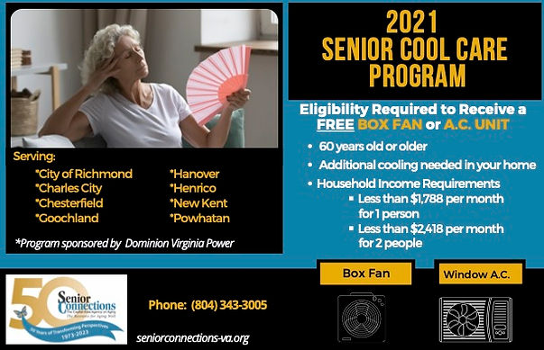 2021 Senior Cool Care Program Flyer (002