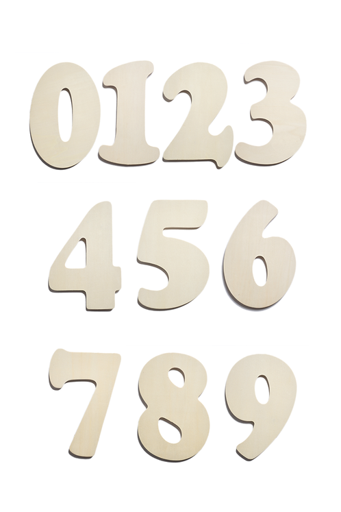 Wood Numbers (SET OF 12)