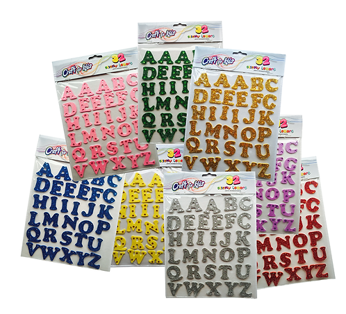STICKY GLITTER LETTERS (SET OF 12)
