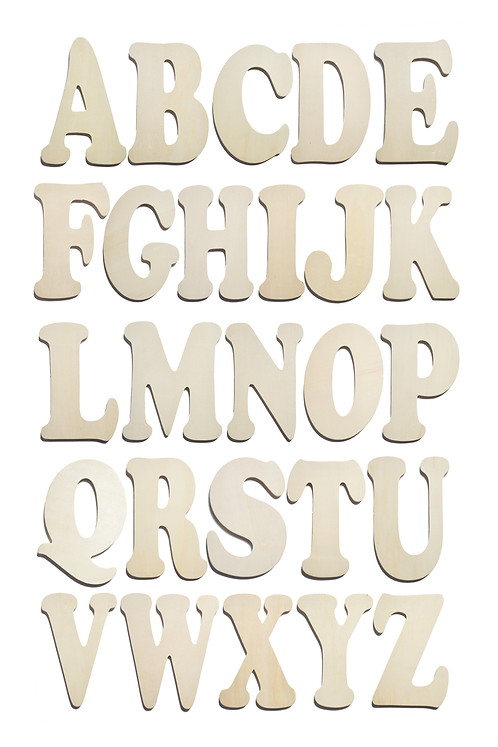 Wood Letters (SET OF 12)