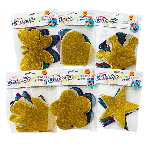 Glitter Foam Shapes (SET OF 12)