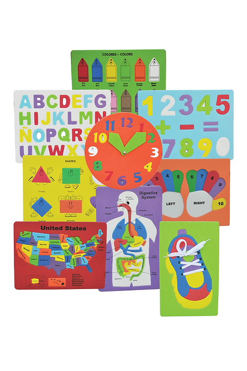 Educational Puzzles (SET OF 12)