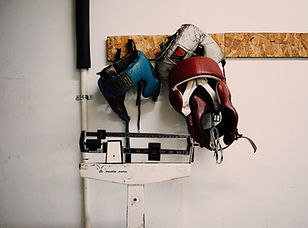 Boxe Cabeça protetores montados na pared