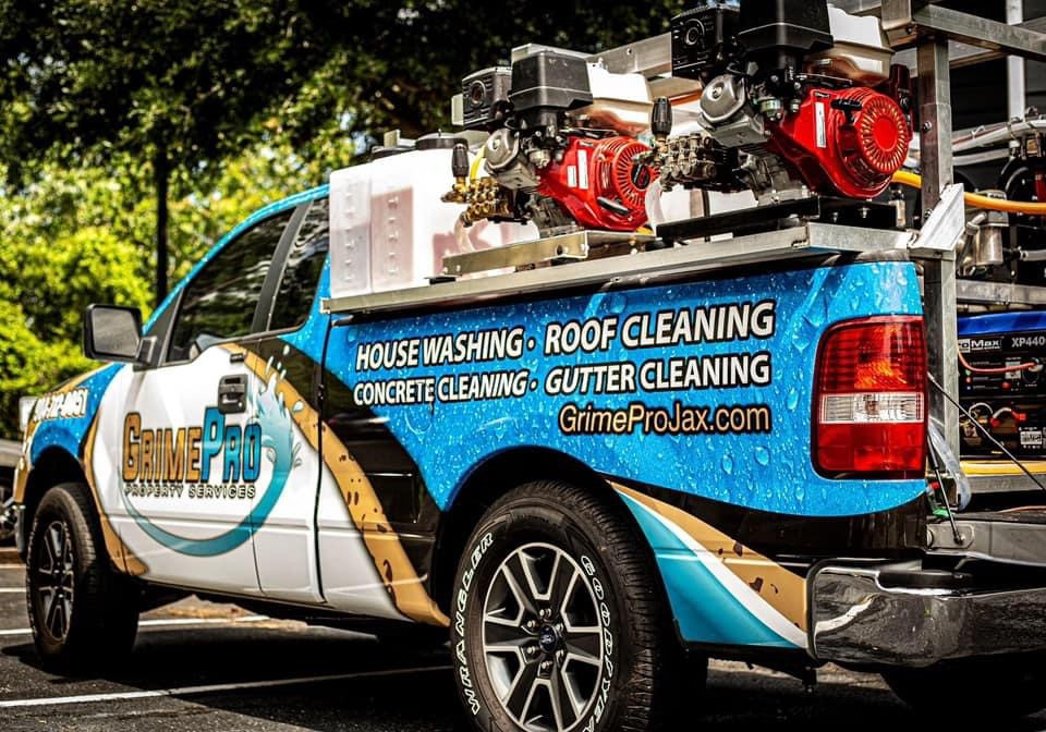 Grime Pro Property Services Truck Wrap.j