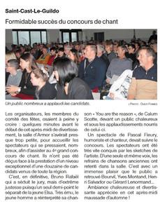 Ouest France, 27 novembre 2019