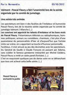 Paris Normandie : 3 octobre 2012
