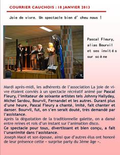 Le courrier cauchois : 18 janvier 2013