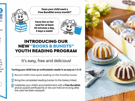 Nothing Bundt Cakes Youth Reading Program: Books and Bundts.