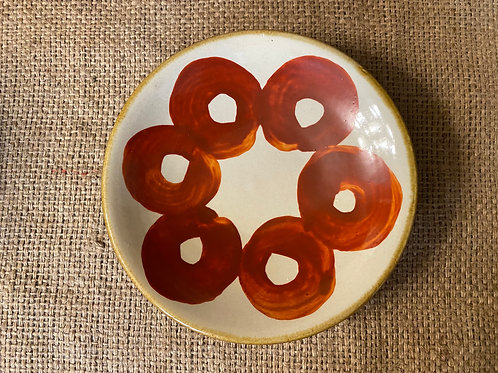 赤まる 5寸皿