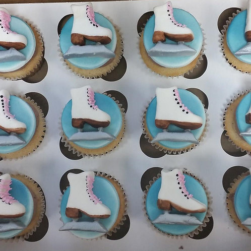 Winter Sports Cupcake Toppers