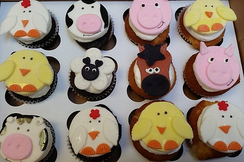Farm Animal Cupcake Toppers