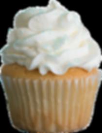 Cupcake, buttercream, sugar crystals