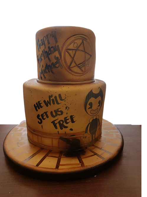 Gamer-Bendy Cake