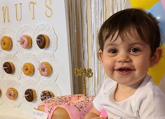 Donut Cake Girl  1st birthday