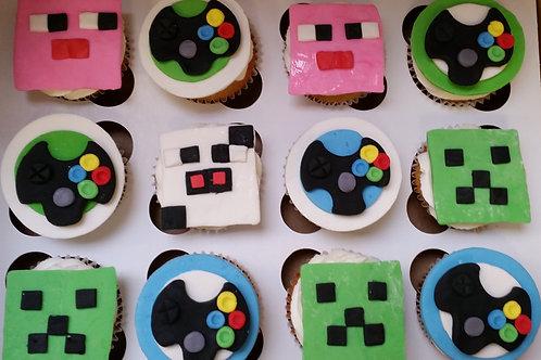 Gamer  Cupcake Toppers