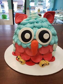 owl, 3d cake, birthday, animal