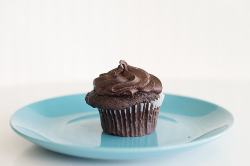Chocolate on Chocolate Cupcake