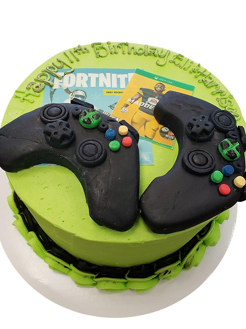 Gamer X-Box Cake