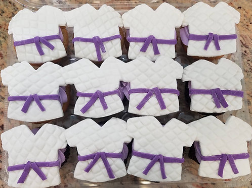 Karate Qi Cupcake Toppers