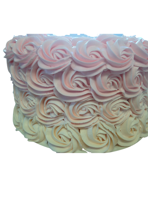 Umbre Rosette Cake