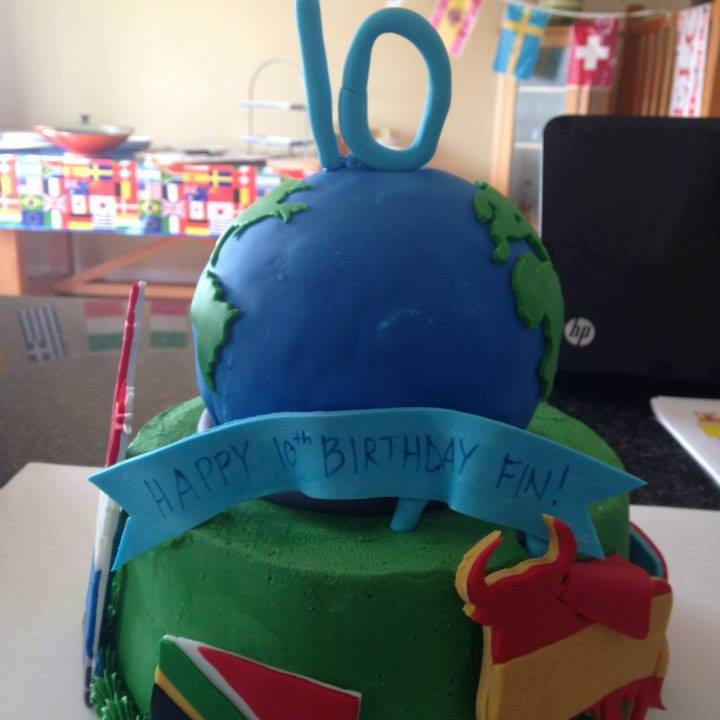 Summer AM Camp Planet Cake