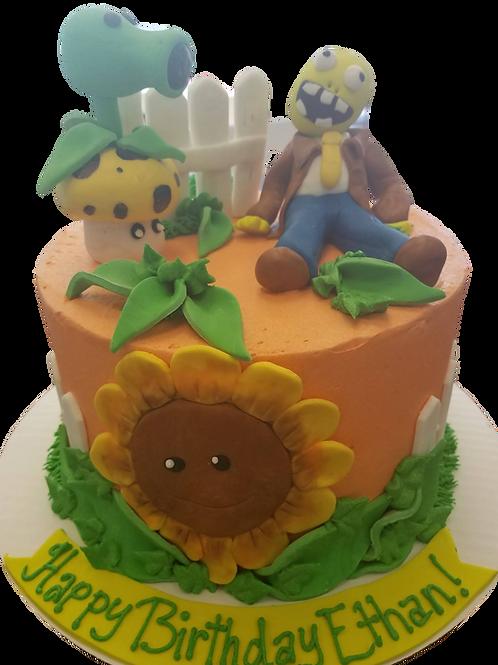 Plants Vs Aliens Cake