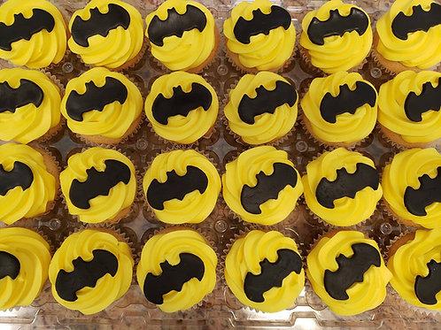 Batman & Superman Cupcake Toppers