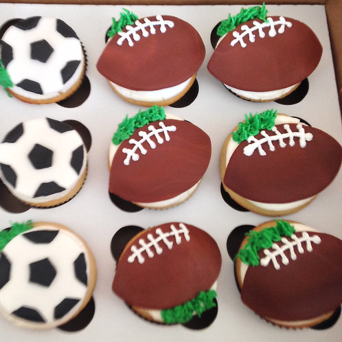 Sports Balls Cupcake Toppers