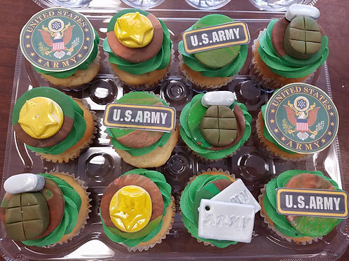 United States Armed Forces Cupcake Toppers