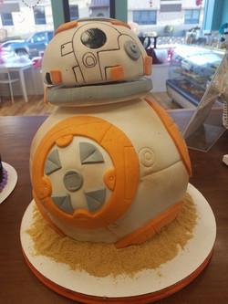 Star wars, cake, bb-8, moving parts