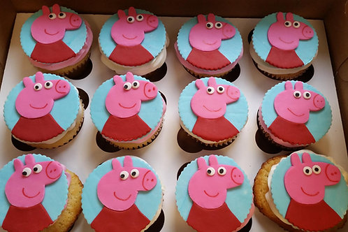 Peppa the Pig Cupcake Toppers