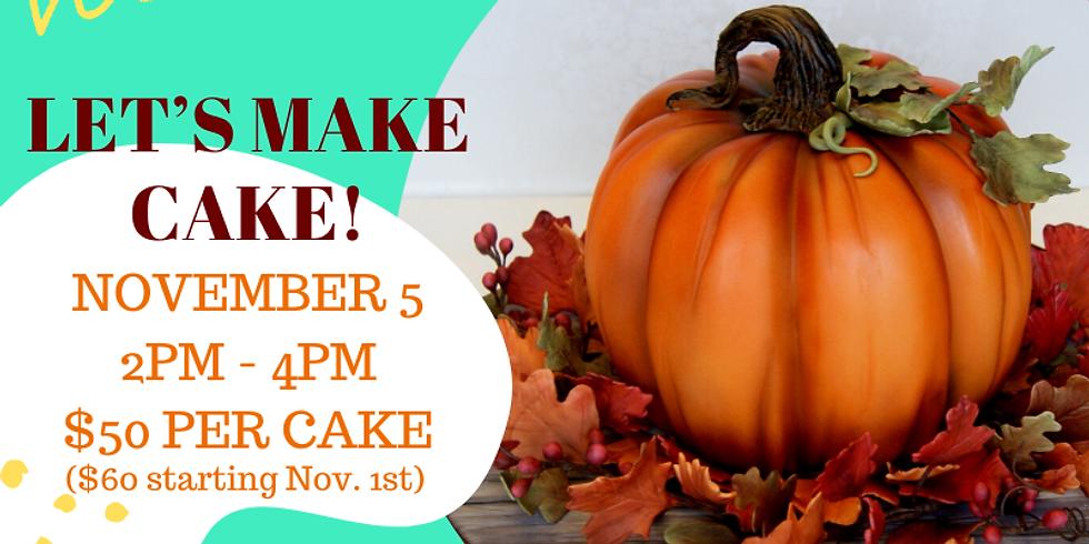 Fall Pumpkin Cake Class