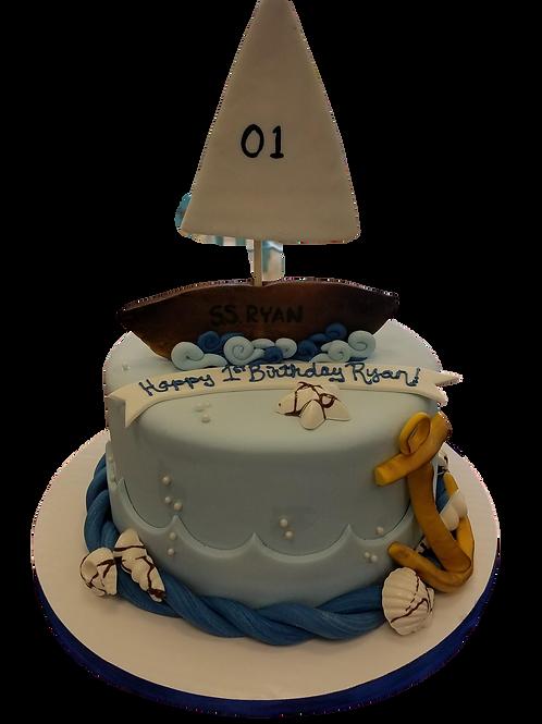 Ocean Boat Cake
