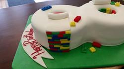lego cake, number