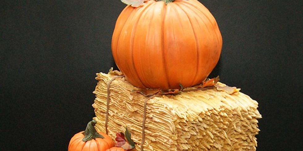Hay Bale & Pumpkin Cake