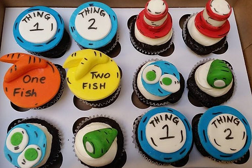 Dr. Suess Cupcake Toppers