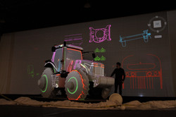 Projection Mapping a Tractor