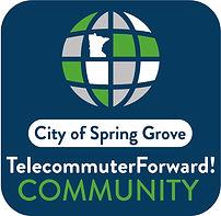 Spring Grove Telecommuter Forward logo (