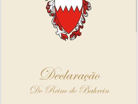 Tradução da Declaração do Reino do Bahrein