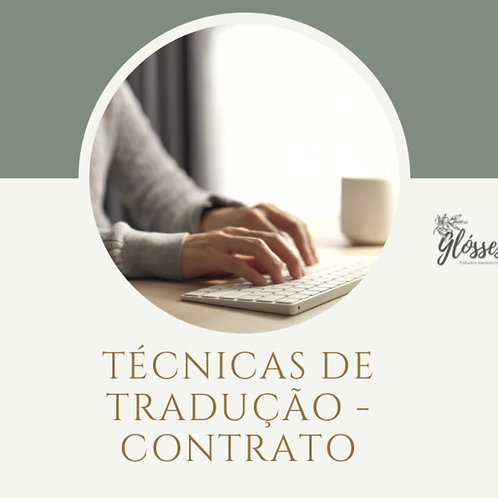 Técnicas de Tradução - Contrato