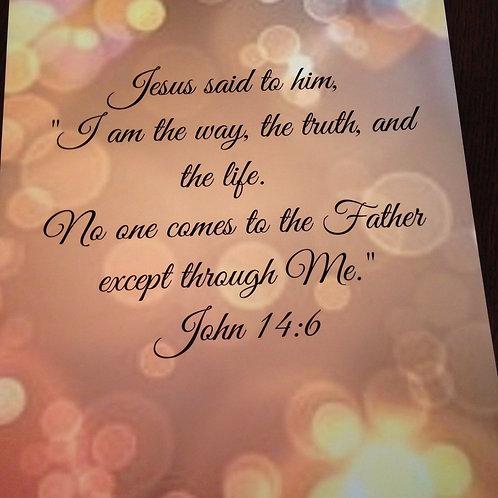 Item#8093 The Way / John 14:6