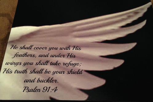 Item#7762 The covering / Psalms 91:4