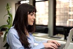 kvinne Typing