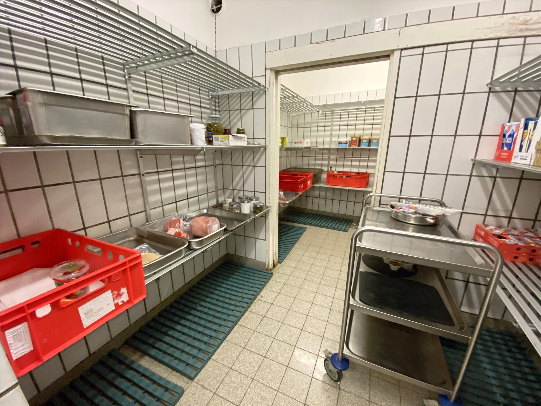 Kühlraum direkt bei der Küche