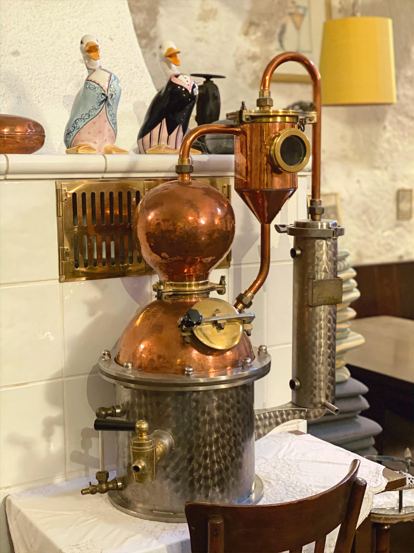 Destille womit eigener Schnaps gebrannt wurde