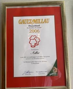 Gault Millau Auszeichnung 2006