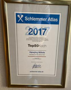 Auszeichnung zum Top50 Koch Deutschlands 2017