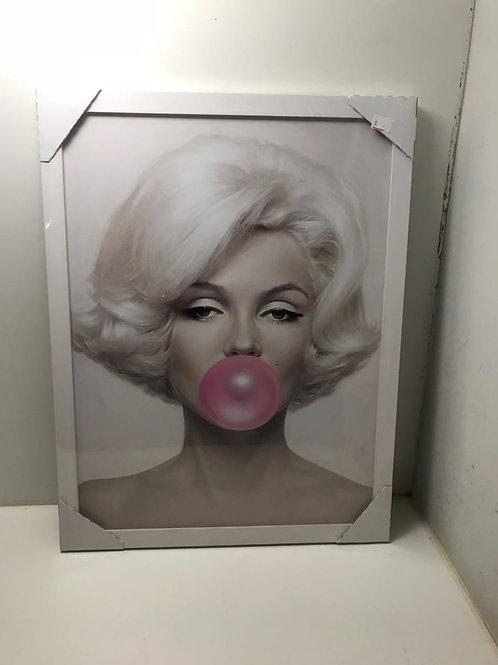 Quadro Marilyn Monroe Moldura Branca
